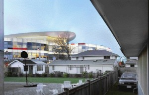 Emerging From Behind a Suburban Neighbourhood in Richmond, the New Aberdeen Centre Creates Its Own Veritable Skyline.