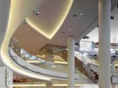 Aggressive Geometries Punctuated With Numerous Skylights Enliven the Multi-Level Shopping Experience.