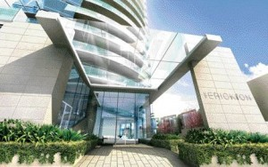 """A Rendering of """"The Erickson,"""" a Luxury Condo Tower Scheduled for Completion in 2008 by Concord Pacific"""