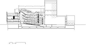 Longitudinal Section Through Auditorium