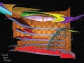 A Sequence of Sound-Burst Diagrams for the R. Fraser Elliott Hall Shows the Progression of Sound Through the Auditorium. Computer Modelling of Acoustics Allows Designers to Investigate the Interaction Between Sound, Walls and Ceiling. These Three Images Illustrate the Sequence of Sound Waves Starting From the Stage, Reflecting Off the Ceiling and Progressing Toward the Rear of the Room.