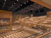 The Interior of the New 700-Seat Auditorium Is Both Intimate and Functional.