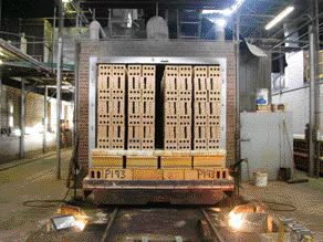 Loaded Onto Kiln Cars and Snaking Its Way Through the 82-Metre-Long Ovens, Bricks Will Be Fired for One to Two Days.
