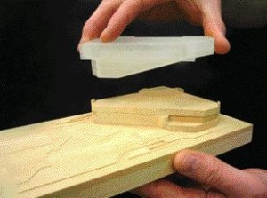 A Massing Model Demonstrates the Concept of Adding a Public Stair, Reading Terraces and Fourth Floor