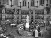 A View of the Reading Room in 1932, and in 1999, Before Renovations Began.