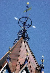 The Newly Restored Prussian Blue Weathervane With Gilded Detailing Is in Keeping With the Original 19th-Century Colour Scheme.