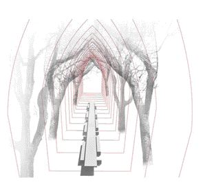 The Preliminary Sketch Demonstrates How a Canopy of Trees Can Reinforce the Idea of Building An Outdoor Refectory Table.