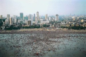 As Architects, Being Culturally Sensitive to the Peculiarities of a City's Public Space Is Important. in This Photograph, Crowds on Mumbai's Chowpatty Beach Spill Into the Ocean During the Ganesh Festival.