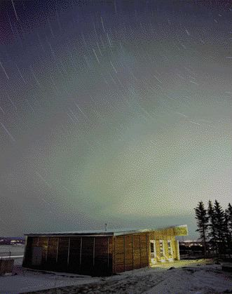 A Time-Delayed Exposure of the Prairie Sky at Night.