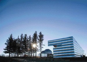 A Trio of Elements on the Site Comprises a Cluster of Trees, the Rothney Observatory and the New Visitor Centre.