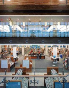 The Layering of the Building's Program Allows Patrons to Access a Clear View Toward the Back of the Library.