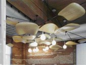 Wooden Seats and Backs of Eames Lounge Chairs are Combined With Dewdrop-Inspired Lightbulbs to Form An Intensely Sculptural Lighting Artifact That Speaks Literally and Figuratively of Herman Miller's Legacy.