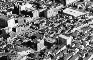 An Aerial View of Saint-Roch in 1960 and in 1980(below), Where Much of It Was Converted Into Desolate Parking Lots.