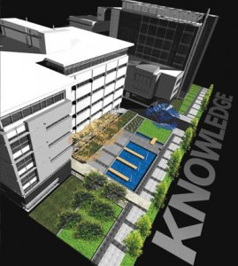 Already Under Construction, Landscape and Low-Rise Building Development Continues to Permeate Westward With Ct Chabot Morel's Garden of Knowledge, An Interactive and Didactic Landscape Linked to Adjacent Research Buildings.