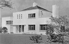 Image of the existing heritage-designated Crosby House designed by Robert A.D. Berwick, a significant and rare example of early modern architecture in Vancouver.