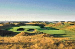 The eagle's nest golf course on the former site of the Keele Valley Landfill in Vaughan, Ontario.