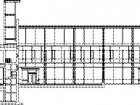 South Elevation--City Room Section1 city room2 library reference3 porch4 reflecting pool/skating5 existing building (3 cross street)6 civic tower7 council chamber8 civic lobby