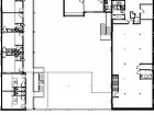Second Floor1 Apartment Unit2 Walkway3 Exit Stair4 Courtyard Below5 Meeting Room6 Administration7 Lounge8 Hostel Dormitory