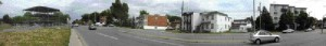 A panorama of the existing site conditions in montral-Nord across the street from the building.