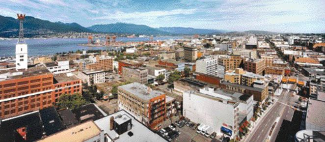 A panorama of Vancouver's Downtown Eastside, taken by Stan Douglas in 2002.