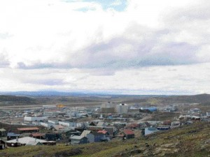 A view of Iqaluit, the largest community in Canada's youngest territory of Nunavut.