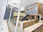 An interior view of the library of the award-winning Thomas L. Wells Public School.