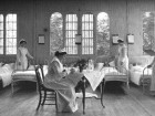 The men's ward in the asylum, circa 1910.
