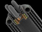 nBots created by Peter Yeadon are nanoscale robotic devices that rapidly self-assemble to form mass, machines, objects, and environments. Each is capable of securing itself to its neighbour.