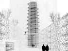 WHILE MOVING THROUGH VARIOUS POINTS OF INTEREST SITUATED ON A DESIGNATED PATH ALONG THE OTTAWA RIVER, VISITORS DISCOVER A 40-METRE-TALL TOWER DEVOTED TO THE COLLECTIONS OF FAMOUS CANADIAN PIANIST GLENN GOULD.