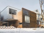 SITUATED IN OTTAWA'S MECHANICSVILLE, THE CALLARD HOUSE ADOPTS A LINEAR PLAN CULMINATING WITH A PROTECTIVE FAADE OF RUSTING MILLED STEEL. THE UPPER LEVEL WILL EVENTUALLY BECOME A SELFCONTAINED LIVING UNIT FOR THE CLIENT'S MOTHER.