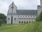 WORKING WITH THE EXISTING CONTEXT OF AN EARLY 20TH-CENTURY BENEDICTINE MONASTERY IN ST-BENOT-DU-LAC, QUEBEC (1989-94), HANGANU SPENT FIVE INTENSE YEARS LEARNING FROM AND COLLABORATING WITH HIS CLIENTS, ACHIEVING AN ARCHITECTURE THAT SUCCESSFULLY INCORPORATES MASONRY, LIGHT AND LITURGY.