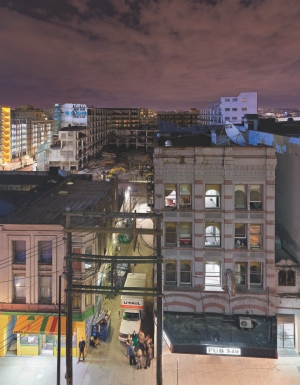 A PHOTOGRAPHER REMINDS US--IF ONLY TEMPORARILY--OF THE HISTORICAL LAYERS OF THE CITY VANISHING BEFORE OUR EYES.
