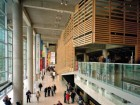 The foyer of the Grande Bibliothque du Qubec in Montreal embeds a variety of the Patkaus' architectural predilections--screens, sectionally driven massing and a sophisticated expression of structure.