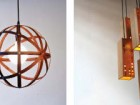 Propellor makes two other pendant light contributions, this time utilizing the rich warmth of wood--Meridian on the left, and Calvino on the right.