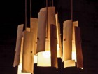 Flute is the name given to this chandelier by Tamara Rushlow, in which beautifully tactile shards of pale porcelain are suspended.