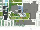 Site Plan1 Building A2 Building B3 Building C4 central quad5 new library6 line of existing building
