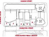 Public Open Spaces1 Hamilton Street precinct2 park precinct3 cafe precinct4 stage precinct5 CBC plaza precinct6 CBC corner studio