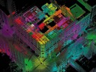 Software developed by FARO Technologies utilizes 53 colour-coded laser scans to test and validate environmental simulation technology, in hopes of understanding energy performance and power usage.