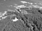 Aerial view of the NB205 house at Grande-Anse, New Brunswick.