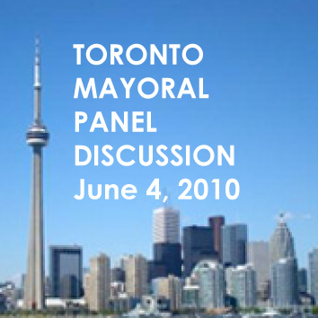 toronto mayoral panel discussion