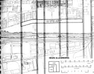 As advisors to a 1975 block study for the creation of Toronto's St. Lawrence Neighbourhood, George Baird's firm proposed an extension of the north-south streets from the original 10 blocks of the Town of York into the scheme.