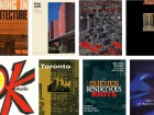 Top row, left to right Various publications and exhibitions in which George Baird was involved include: Meaning in Architecture (1968); Alvar Aalto (1969); Vacant Lottery (1978); the inaugural issue of TRACE, a short-lived but influential architecture magazine (1980-81). Bottom row, left to right The catalogue for the OKanada exhibition in Berlin (1982); Toronto: Le Nouveau Nouveau Monde (1987); Queues, Rendezvous, Riots (1995); The Space of Appearance (1995).
