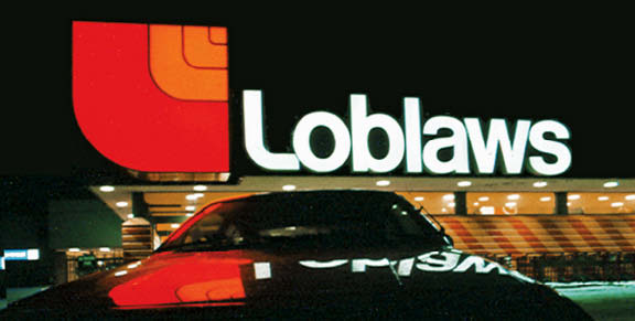 The colourful and highly recognizable logo for Loblaws supermarkets was developed by the late Don Watt.