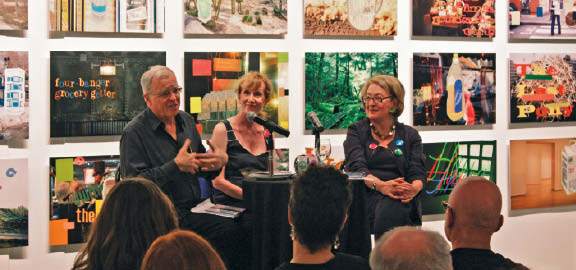 Barry Lord and Gail Dexter Lord flank Rita Davies, Executive Director of Culture at the City of Toronto, in an intimate discussion at the book launch for Artists, Patrons and the Public: Why Culture Changes, held at the Museum of Contemporary Canadian Art in Toronto.