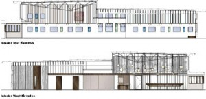 Interior Elevations of Bridgenorth Library