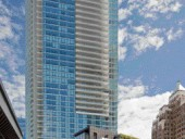 The dynamic geometry of the new tower allows 70 percent of the condominums to have spectacular views toward the harbour.