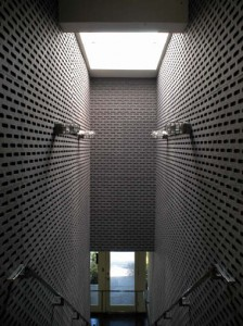 George Yu Architects specified Walter's CAD-CAM-cut perforated felt wall tiles for the Oxygen Media Studios in Los Angeles.