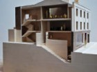 An architectural wood model of Fobert's Givenchy boutique and offices.