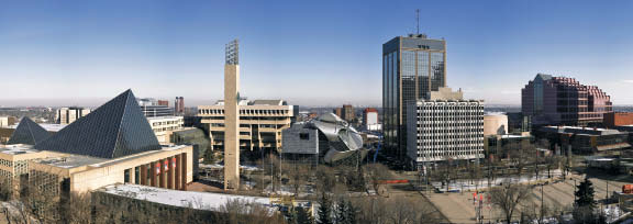 The Art Gallery of Alberta in its downtown urban context. Robert Lemermeyer