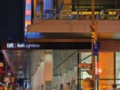 Effective signage and lighting creates a highly appealing urban corner condition at King and John Streets. Tom Arban